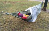 Camping Hängematte mit Bildschirm und Überzelt komplett