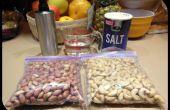 Cashewnüsse und Erdnüsse Rösten