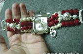 Perlen Armband Uhr
