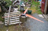 PVC Rohr klingen und Rotor für HAWT aus Schrott.