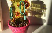 Wein Flasche Kaktus (oder Schmuck Aufhänger)