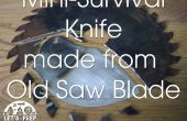Mini-Survivalmesser hergestellt aus einem alten Sägeblatt - Jimmy Diresta inspirierte