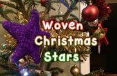 Gewebten wollenen Weihnachtssterne