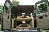Bauen Sie ein Bett auf der Rückseite Ihrer Van