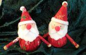 Machen Sie eine Weihnachten Santa Ornament für Sie Ihren Tisch sind, oder nur für den Spaß an der Sache. HO HO HO