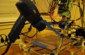 Entwicklung eines 3D gedruckt teils - Prusa Mendel Haartrockner erhitzt Bett montieren