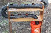 Hydrokultur mit zurückgefordert Materialien