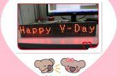 Spezielle Valentines Geschenk gemacht mit MAX7219 Dot-Matrix-Modul