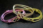 Seil-Armband Muster-diy Seil Armbänder aus vielseitigen verschiebbaren Knoten