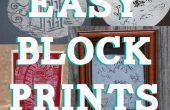 Einfach Lino Block Prints für Kinder mit Styropor!