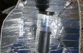 Solar-Wasser-Heizung für Backpacking Verwendung von Wasser in Flaschen und ein Auto Schatten