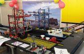 Miniatur-Hafen mit Lego Kran