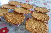 Hafer Tuiles (knusprige Kekse) - einfaches Rezept