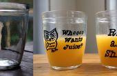 Umbau alte Gläser (in Saft Gläser!)