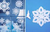 Wie erstelle ich eine Schneeflocke mit Papier