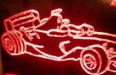 F1 Red Leds Frame
