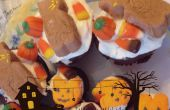 Bananenpüree Halloween Chocolate Cupcakes