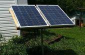 Solaranlage mit Up-radelte Komponenten.