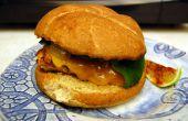 Poblano Chicken Burger mit Hacienda Margaritas