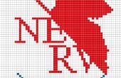 Neon Genesis Evangelion Cross Stitch: NERV-Logo