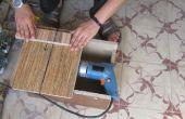 Schneiden von Holz und Metall mit Bohrer