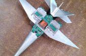 Modernen Kampfflugzeug aus Elektroschrott-