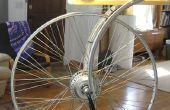 Hommage an Duchamps Rad - ein dual-Mode führte Lampe (Hub Gleichstromgenerator oder AC-Plugin)