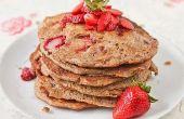 Ganze Weizen Erdbeere Pfannkuchen