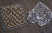 Laser schneiden Labyrinth