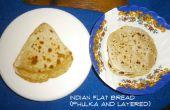 Indisches Fladenbrot - Phulka/Roti/Chapati (aufgeblasen) und geschichteten