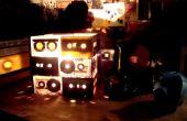 Retro-Tribut - Kassette Klebebänder Lampe mit Joystick-Schalter