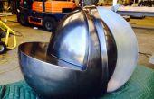 Gesponnen, Stahl und Waterjet Schnitt Skulptur