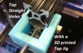 Gerade Gewindebohrungen in Aluminium-Extrusion mit einem 3D gedruckt tippen Jig (20mm / Openbuilds V-Nut, Misumi, Makerslide / Universal)