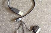 4-in-1 USB-Mini • micro • Blitz • 30-poligen Stecker Kabel