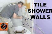Wie man eine Duschwand Fliesen... UND geschnittene Fliesen wie ein Profi!