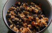 Würzige schwarze Bohnen & Bulgur Weizen