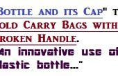 Reparatur Tasche Griff mit einer Plastikflasche und Schutzkappe. Eine kreative Nutzung der verwendeten Kunststoff-Flasche