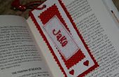 Personalisierte Valentinstag Bookmark