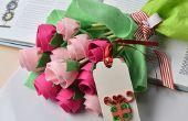 Muttertagsgeschenk – wie erstelle ich einen Filz Blume Blumenstrauß