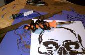 AIRBRUSH Schablonen leicht gemacht mit einem Lötkolben