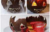 Jack O Lantern Kürbis-Mousse Schokoladenkuchen