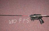 Nerf Pistole super geändert (in einer Airsoft Pistole 250 fps)