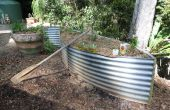 Gemüsegärten aus alten Wassertank