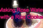 Wie erstelle ich Rosenwasser mit einem Dampfgarer Reis