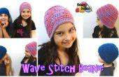 Welle Stitch Beanie – kostenlose Häkelanleitung