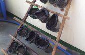 Pflanze-Töpfe mit Ständer aus recycelten Materialien