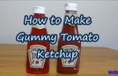 Wie erstelle ich Gummibärchen Tomaten-Ketchup-Flasche