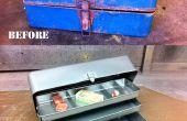 Wiederherstellen eine rostigen alten Tackle Box mit Sandstrahlen & Pulverbeschichtung