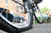 Festsetzung eines durchlöcherten Fahrrad-Reifens
