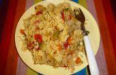 Eine gut ausgewogene, nahrhafte Diät: Druckhitzebehandlung Reis mit Linsen und Gemüse